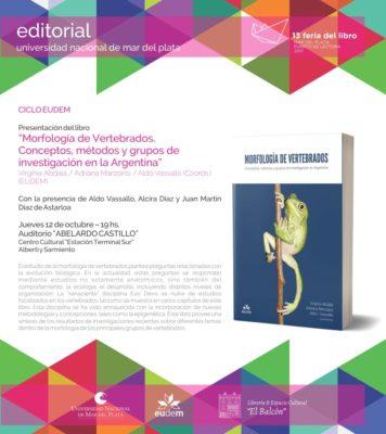 """Presentación del libro """"Morfología de vertebrados"""""""